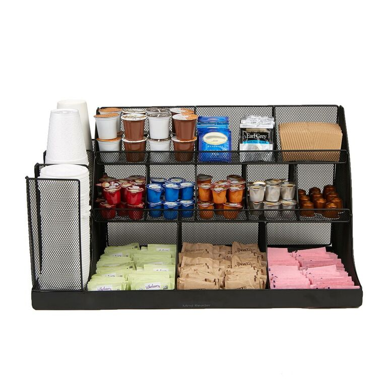 Mind Reader 14 Compartment 3 Tier Large Breakroom Condiment Organizer