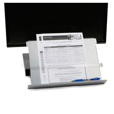Mind Reader Metal Monitor Stand Riser with Resting Document Holder Easel