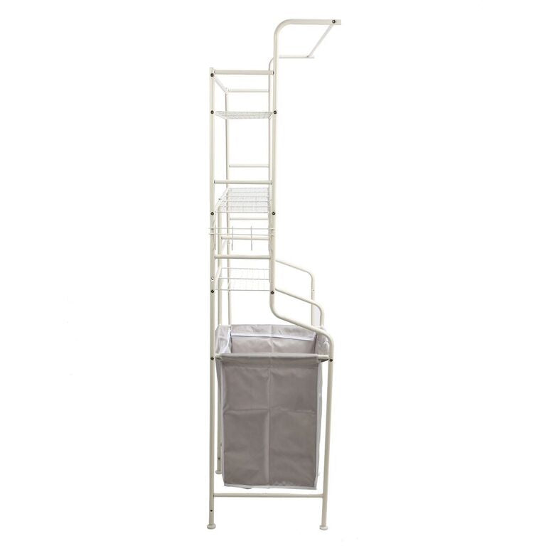 Mind Reader Metal Long Washing Machine Shelf and Rack