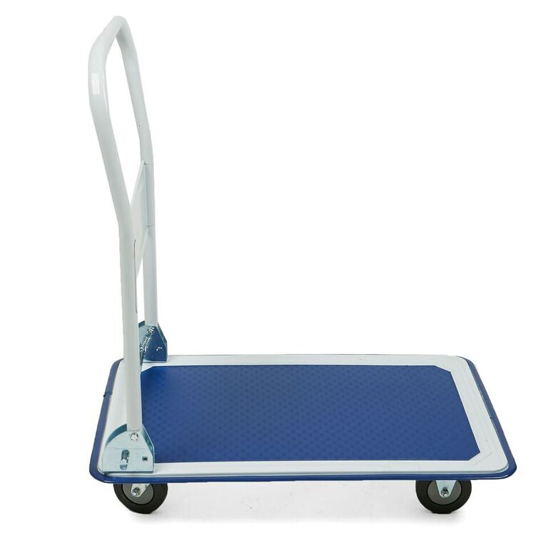 Mind Reader Foldable Push Cart Pallet Roller Dolly with Front Swivel Wheels