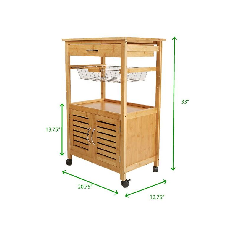 Mind Reader 3 Tier Kitchen Cart, Utility Organizer Rack