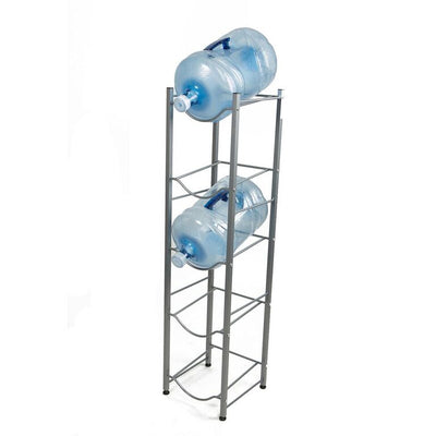 Mind Reader 5 Tier Stainless Steel Heavy Duty Water Cooler Jug Rack