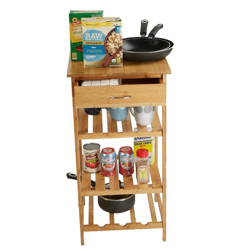 Mind Reader 4 Tier Kitchen Island Storage Rack Organizer