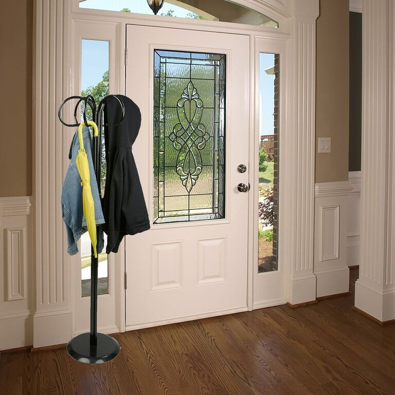 Mind Reader Standing Entryway Coat Rack Holder