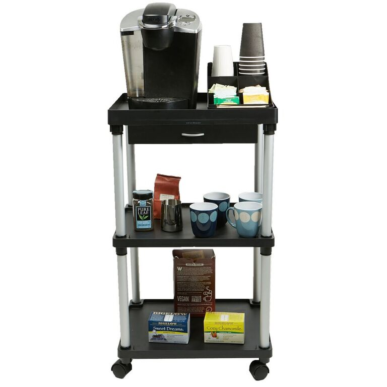 Mind Reader All Purpose Rolling Cart (Used for Printers, Utilities, Kitchen Utensils, Coffee, Microwave, Bathroom, Condiments)