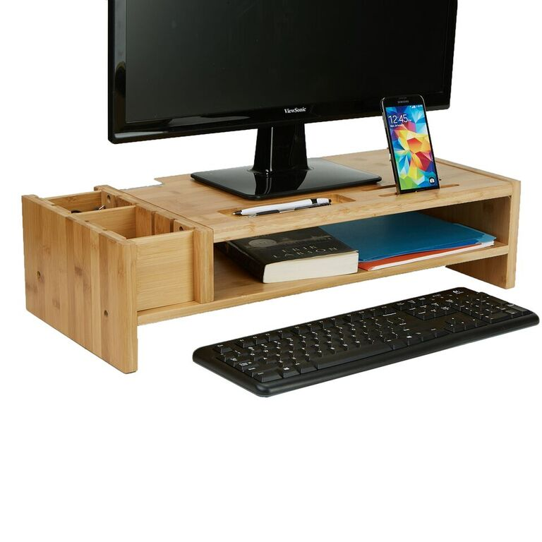 Mind Reader Monitor Stand Organizer
