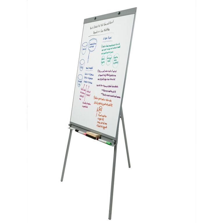 Mind Reader Magnetic Dry Erase Easel Whiteboard