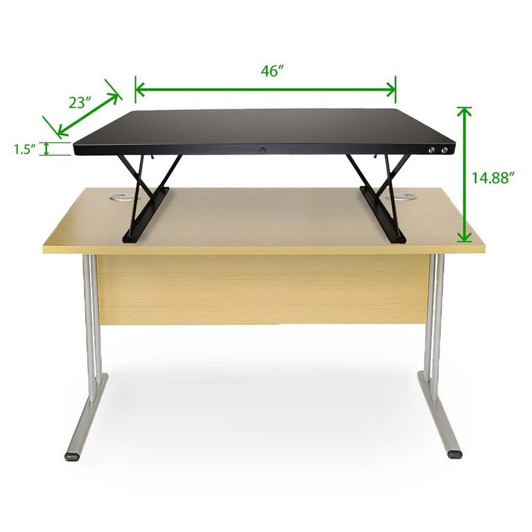 Mind Reader Electric Powered Adjustable Standing Desk with Color Coded Buttons