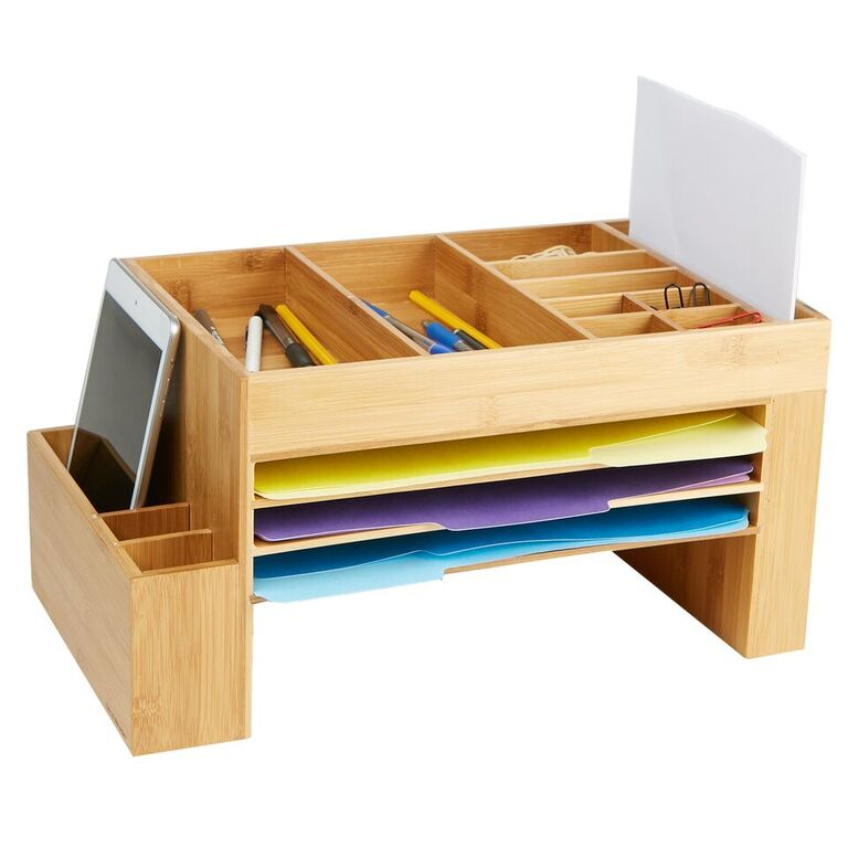 Mind Reader Desk File Organizer, 16 Compartments, Desk, Storage Saver, Office, Home