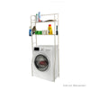 Mind Reader Laundry Utility Washing Machine Shelf, White