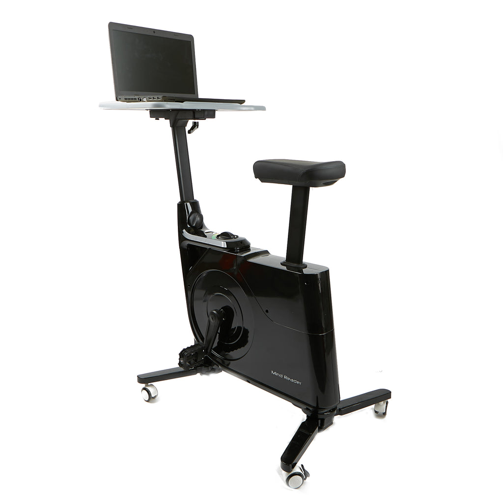 Exercise Bicycle with Desk, Home Office Exercise Cycle, Standing Indoor Cycling Bike, Bike Workstation