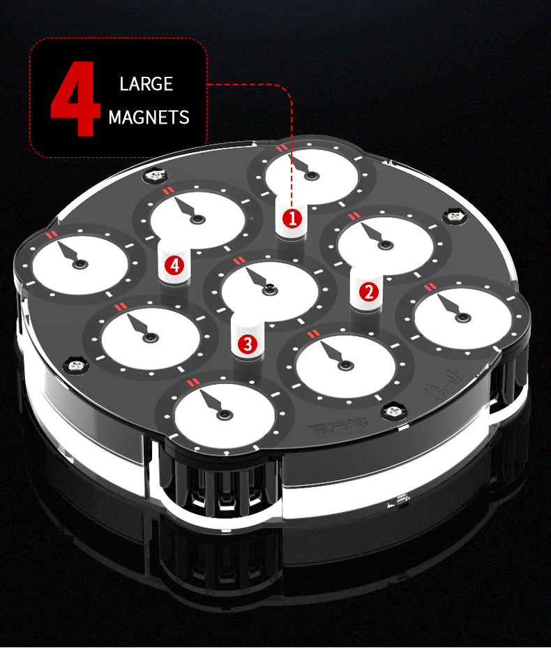 qiyi magnetic clock pin magnet placement