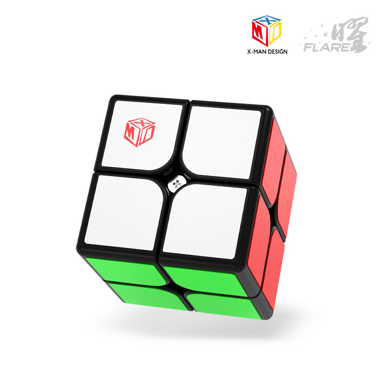 XMD flare 2x2 Magnetic speedcube in black