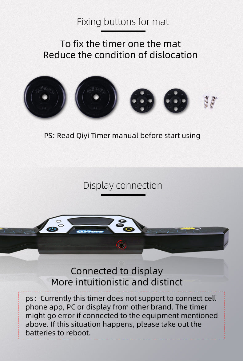 qiyi speedcube timer attachment button and port