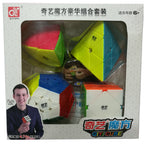 QiYi Stickerless Premium Bundle - CuberSpace - Speedcube - Singapore