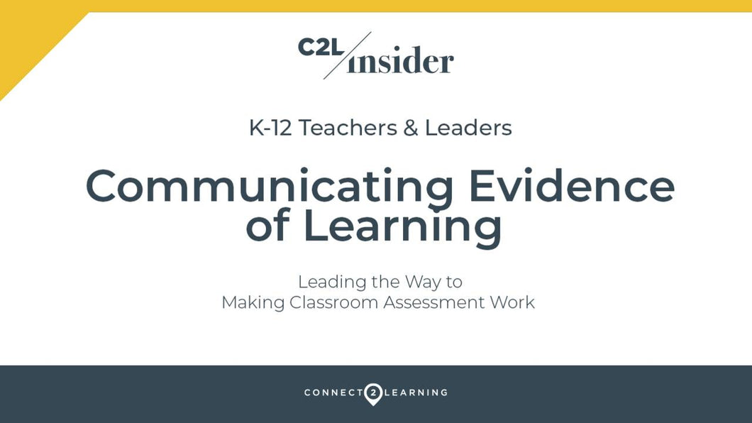 329.000.IN - Communicating Evidence of Learning