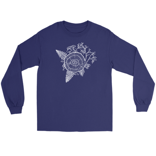 Unisex Long Sleeve White Tree of Life