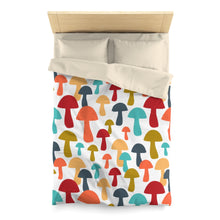 Load image into Gallery viewer, Shrooms Microfiber Duvet Cover