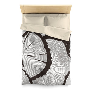 Tree Ring Microfiber Duvet Cover