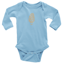 Load image into Gallery viewer, Long Sleeve Gold Morel Onesie