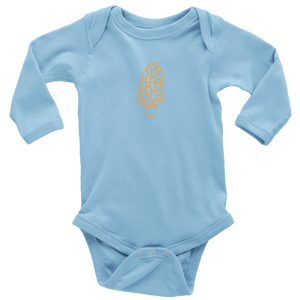 Long Sleeve Gold Morel Onesie