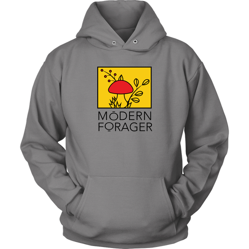 Unisex Gray Modern Forager Full Color Hoodie