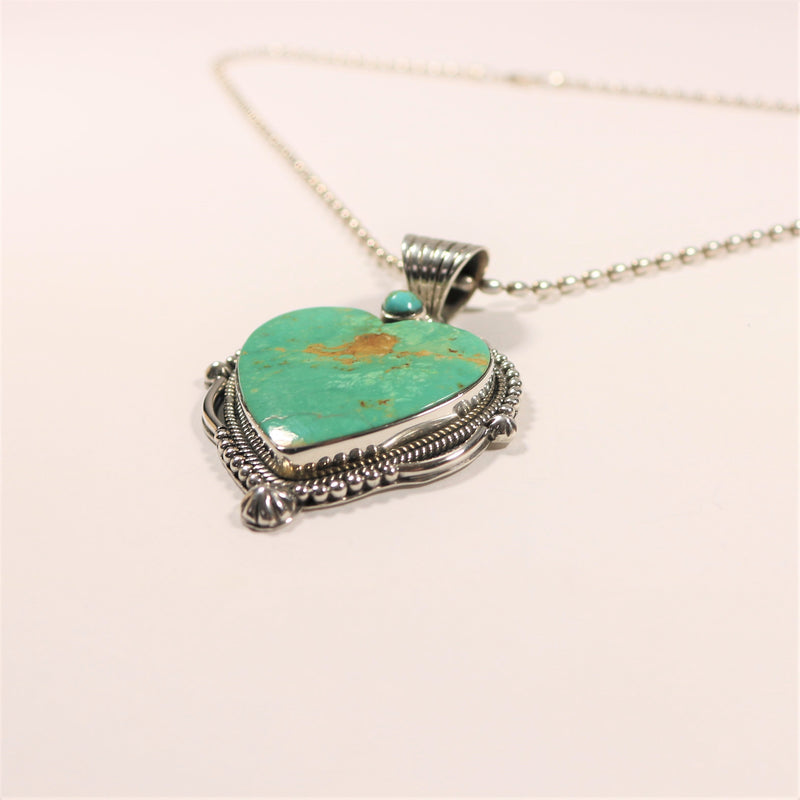 Turquoise Heart - Large