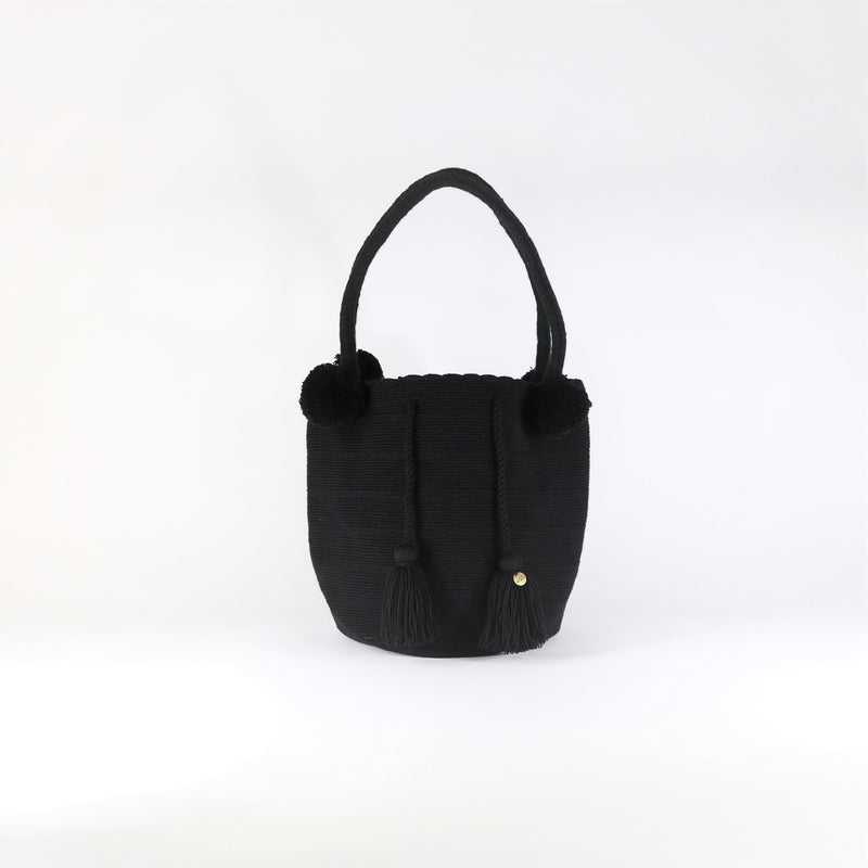 Pom Pom Bag - Black