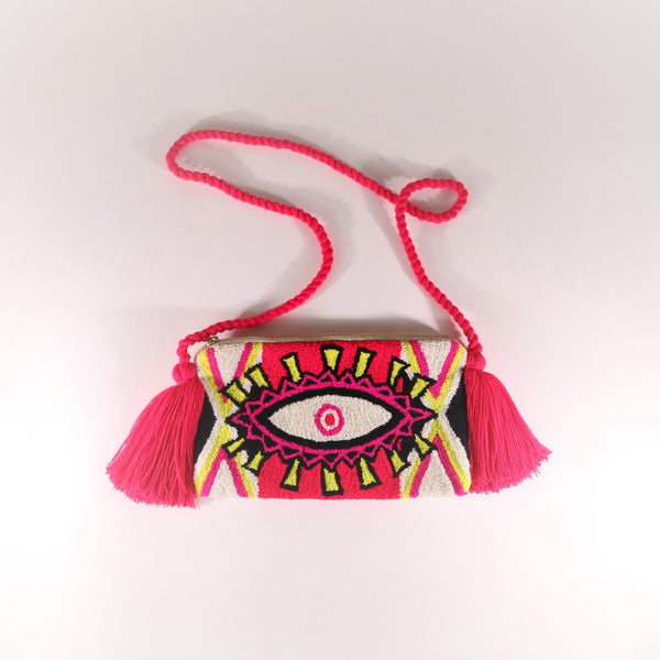 Third Eye Clutch - Ema Neon White