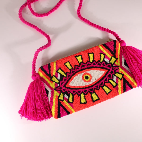 Third Eye Clutch - Ema Neon Orange