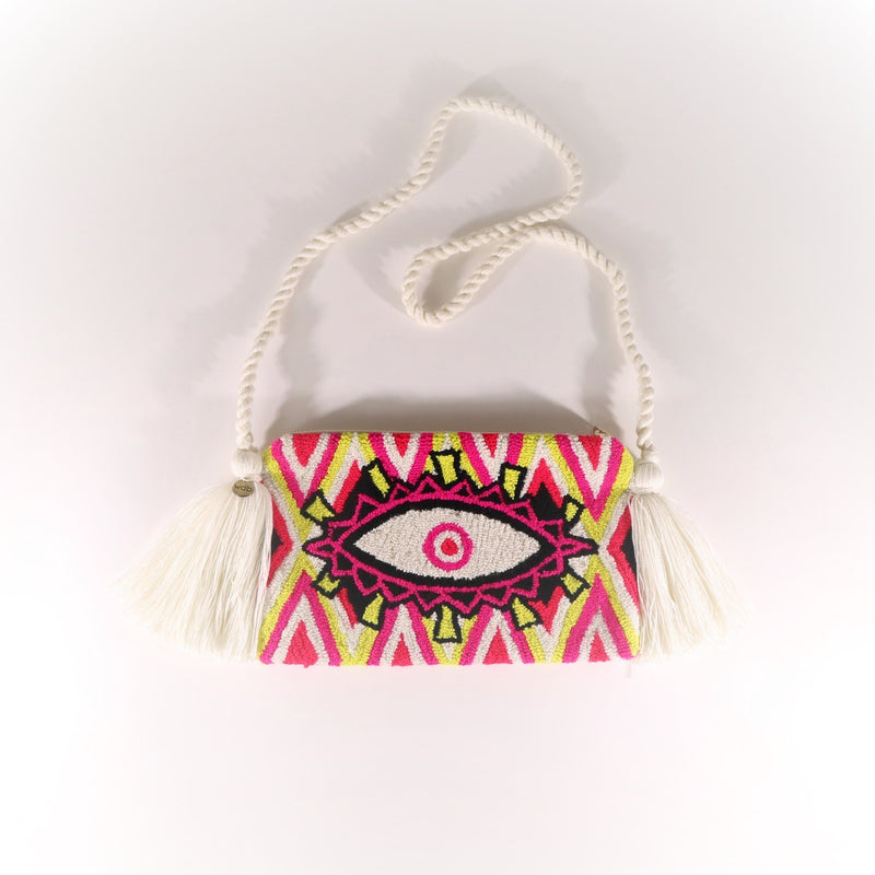 Third Eye Clutch - Croix Neon White