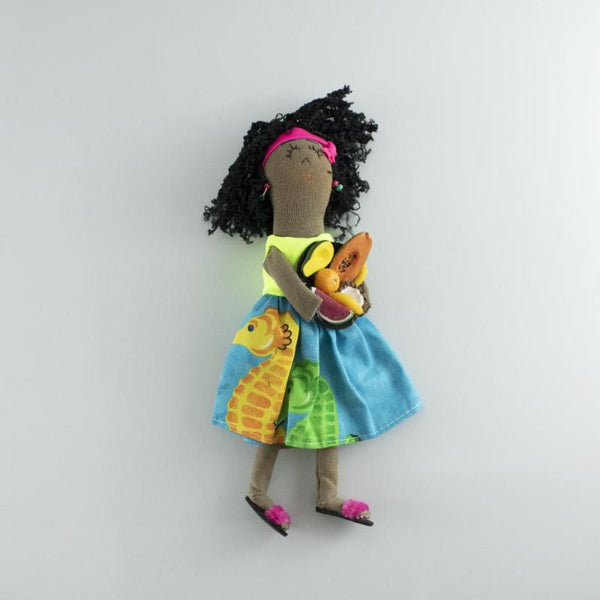 handmade colombian ethnic cloth doll
