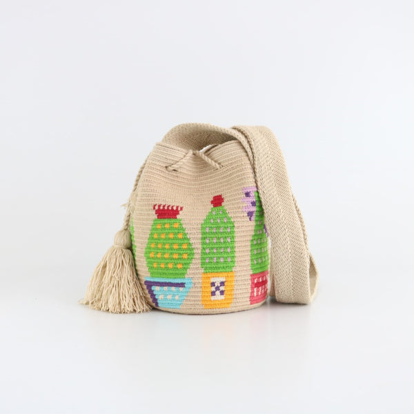 Cactus T Wayuu Bag - Medium - wayuu-dreaming