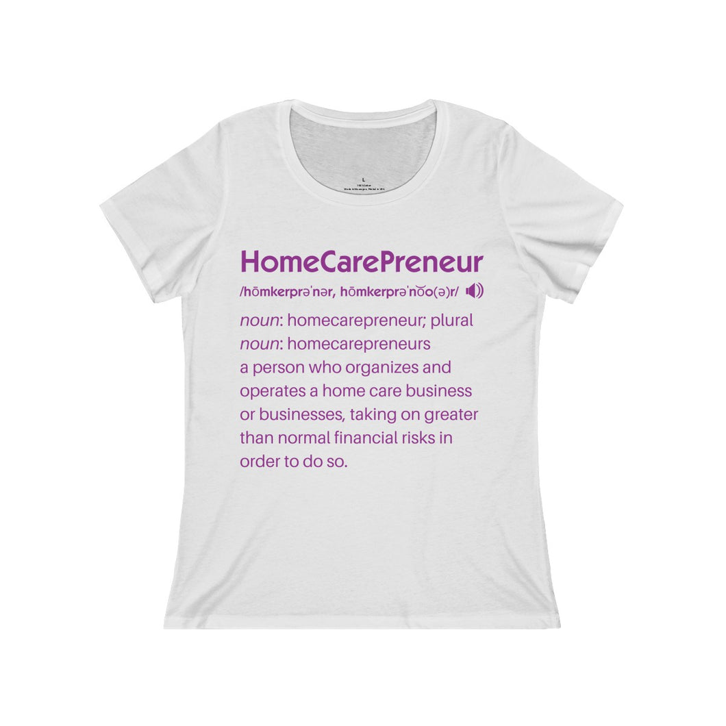 HomeCarePreneur Definition Women's Relaxed Jersey Short Sleeve Scoop Neck Tee