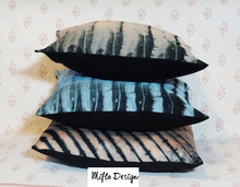 Load image into Gallery viewer, Shibori Style Cushion Cover : Black and Pink
