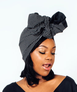 White dots Headwrap