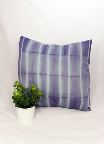 LILAC/SKY BLUE - REGULAR STRIPED CUSHION COVER