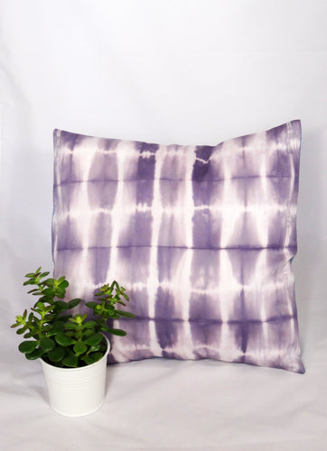 LILAC/WHITE - IRREGULAR STRIPED CUSHION COVER