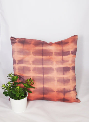LILAC /OLD PINK - IRREGULAR STRIPED CUSHION COVER
