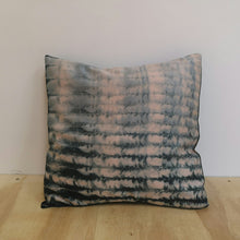 Load image into Gallery viewer, Shibori Style - Cushion Cover Black and Pastel pink