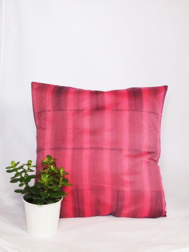LILAC/CORAL - REGULAR STRIPED CUSHION COVER