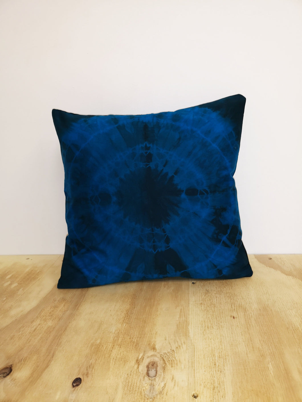 Azure Blue Burst Cushion Cover
