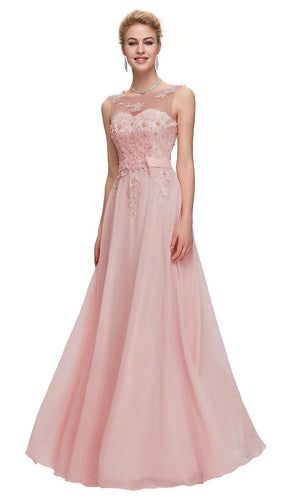 Adele dusky blush dusty pink chiffon lace long bridesmaid wedding bridal prom evening cruise dress loulous bridal boutique ltd UK