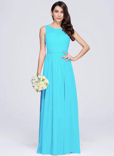 Ashley Aqua Spa Blue turquoise pleat chiffon long vback bridesmaid wedding prom evening dress loulous bridal boutique ltd uk