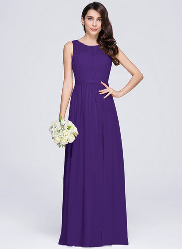 ashley cadbury purple sleeveless chiffon long bridesmaid wedding prom dress evening loulous bridal boutique ltd uk