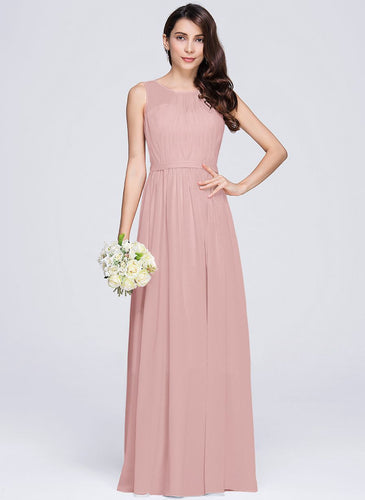 ashley dusky dusty blush pink  sleeveless chiffon long bridesmaid wedding prom dress evening loulous bridal boutique ltd uk