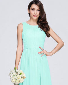 ashley pale light mint green  sleeveless chiffon long bridesmaid wedding prom dress evening loulous bridal boutique ltd uk