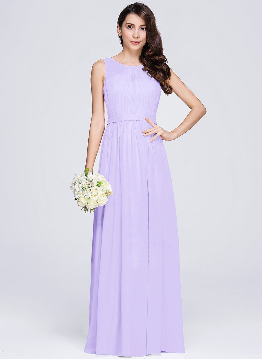 ashley lilac purple sleeveless chiffon long bridesmaid wedding prom dress evening loulous bridal boutique ltd uk