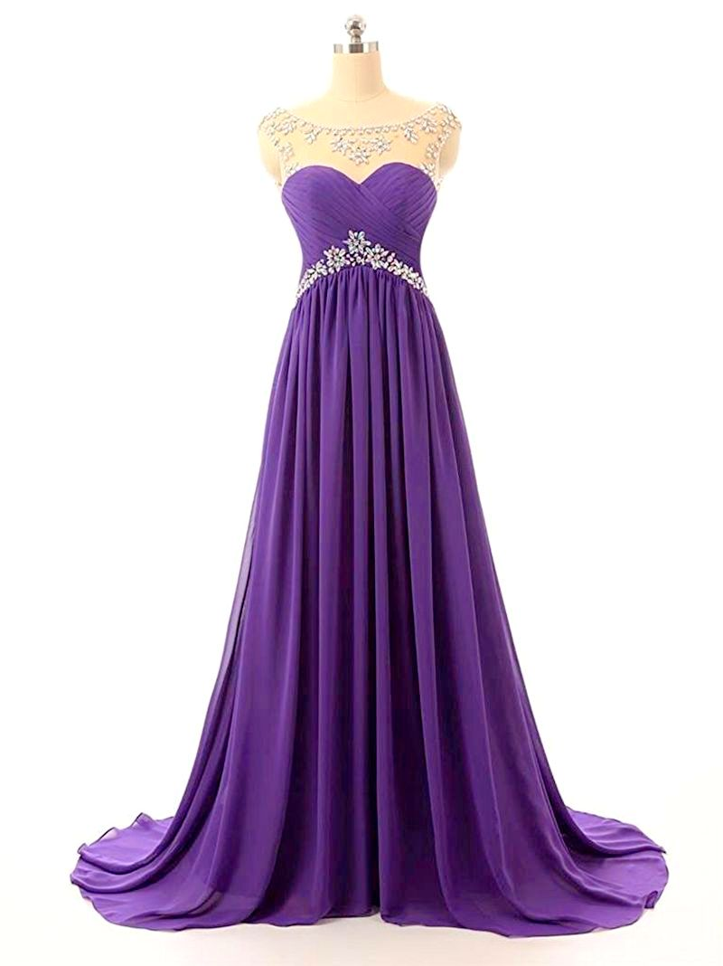 aTHENA cadbury purple crystal long bridesmaid evening wedding prom dress uk loulous bridal boutique ltd