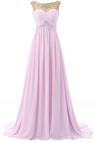 Athena pale light baby pink chiffon crystal beaded long bridesmaid evening prom formal occasion cruise wedding bridal dress uk